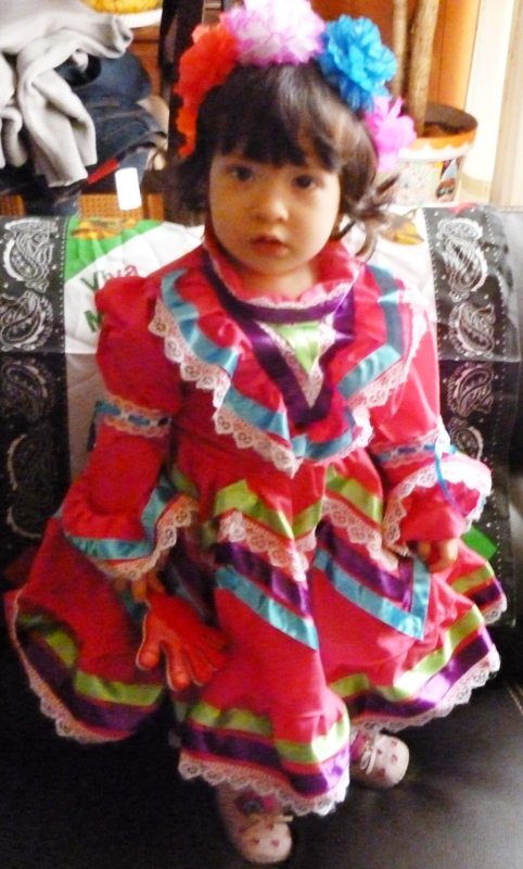 "JALISCO DRESS COSTUME  Folklorico Dance Toddlers  16"" (40cm)"